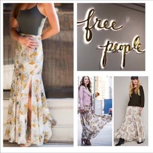 🆕Free People Pebble Fate Floral Maxi Skirt. NWOT.